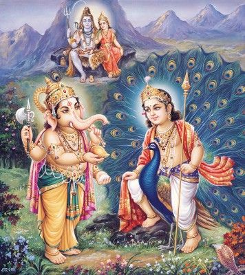 Kartikeya-and-Ganesha