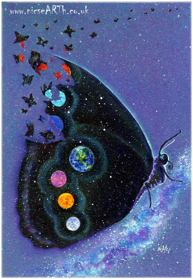 surreal-butterflycosmosplanetsspirit-animalanimal-totemnicsearth